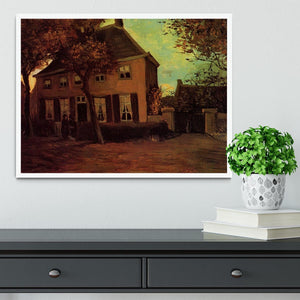The Vicarage at Nuenen by Van Gogh Framed Print - Canvas Art Rocks -6