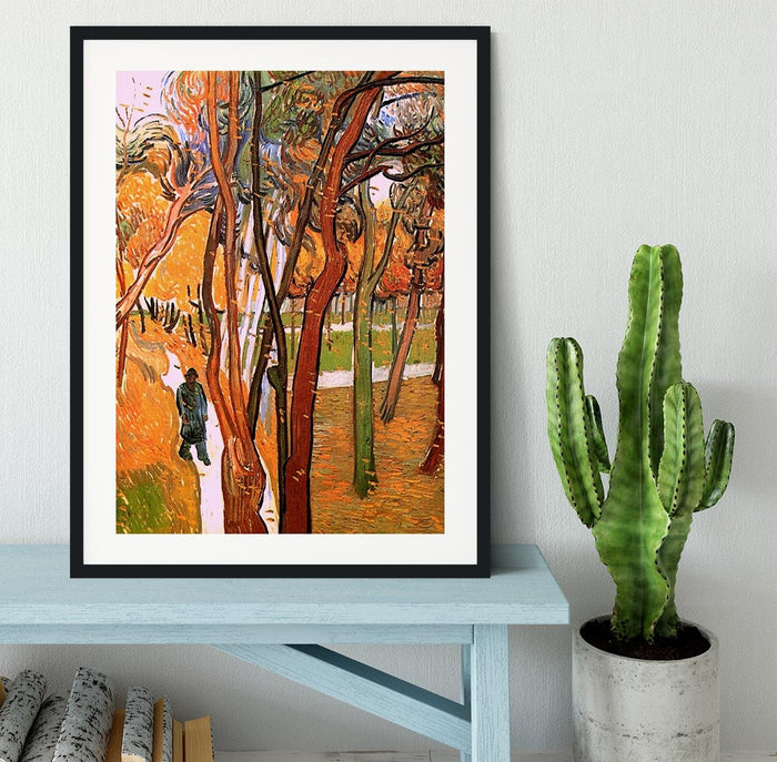 The Walk in Falling Leaves by Van Gogh Framed Print
