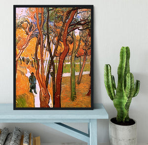 The Walk in Falling Leaves by Van Gogh Framed Print - Canvas Art Rocks - 2