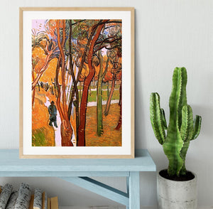 The Walk in Falling Leaves by Van Gogh Framed Print - Canvas Art Rocks - 3