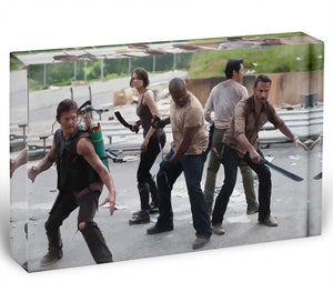The Walking Dead Cast Acrylic Block - Canvas Art Rocks - 1