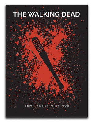 The Walking Dead Eeny Meeny Minimal Movie Canvas Print or Poster  - Canvas Art Rocks - 1
