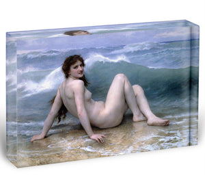 The Wave By Bouguereau Acrylic Block - Canvas Art Rocks - 1