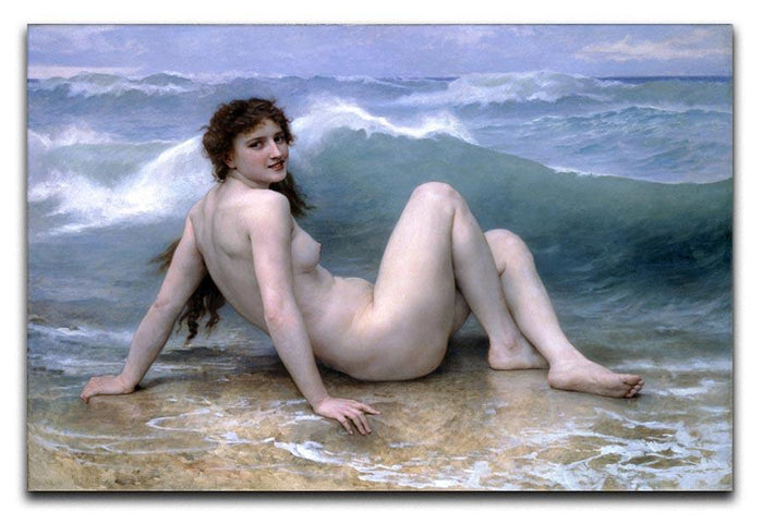 The Wave By Bouguereau Canvas Print or Poster
