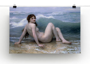 The Wave By Bouguereau Canvas Print or Poster - Canvas Art Rocks - 2