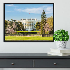 The White House Blossoms Framed Print - Canvas Art Rocks - 2