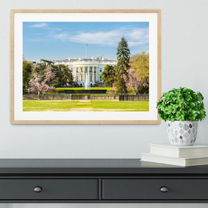 The White House Blossoms Framed Print - Canvas Art Rocks - 3