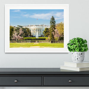 The White House Blossoms Framed Print - Canvas Art Rocks - 5