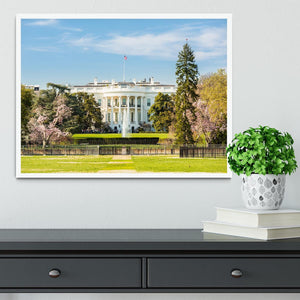 The White House Blossoms Framed Print - Canvas Art Rocks -6