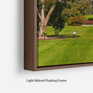 The White House the South Gate Floating Frame Canvas