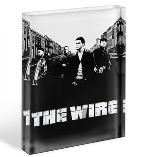 The Wire Acrylic Block - Canvas Art Rocks - 1