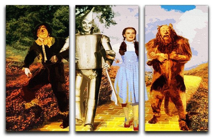 The Wizard Of Oz 3 Split Panel Canvas Print