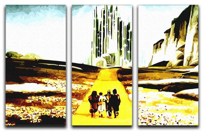 The Wizard Of Oz Yellow Brick Road 3 Split Panel Canvas Print