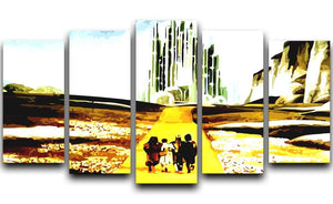 The Wizard Of Oz Yellow Brick Road 5 Split Panel Canvas  - Canvas Art Rocks - 1