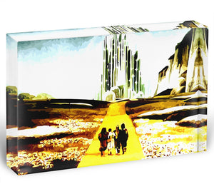 The Wizard Of Oz Yellow Brick Road Acrylic Block - Canvas Art Rocks - 1