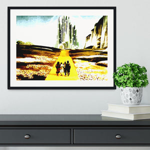 The Wizard Of Oz Yellow Brick Road Framed Print - Canvas Art Rocks - 1