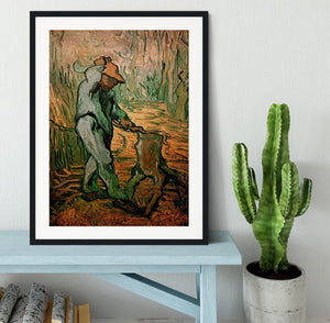 The Woodcutter after Millet by Van Gogh Framed Print - Canvas Art Rocks - 1