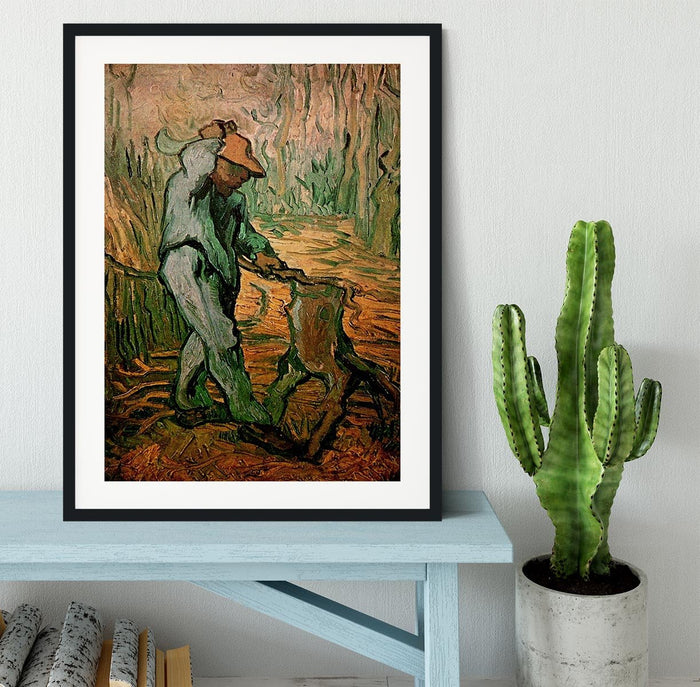 The Woodcutter after Millet by Van Gogh Framed Print