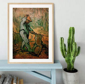 The Woodcutter after Millet by Van Gogh Framed Print - Canvas Art Rocks - 3