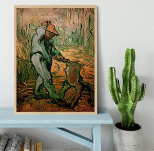 The Woodcutter after Millet by Van Gogh Framed Print - Canvas Art Rocks - 4