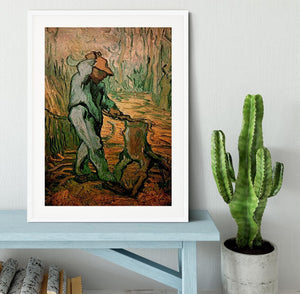 The Woodcutter after Millet by Van Gogh Framed Print - Canvas Art Rocks - 5