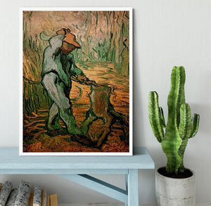 The Woodcutter after Millet by Van Gogh Framed Print - Canvas Art Rocks -6