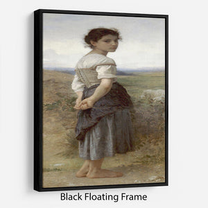 The Young Shepherdess By Bouguereau Floating Frame Canvas