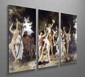 The Youth of Bacchus By Bouguereau 3 Split Panel Canvas Print - Canvas Art Rocks - 2