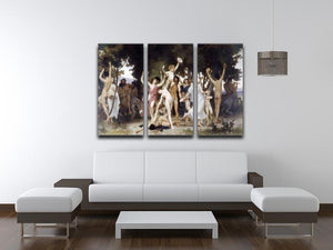 The Youth of Bacchus By Bouguereau 3 Split Panel Canvas Print - Canvas Art Rocks - 3