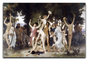 The Youth of Bacchus By Bouguereau Canvas Print or Poster  - Canvas Art Rocks - 1