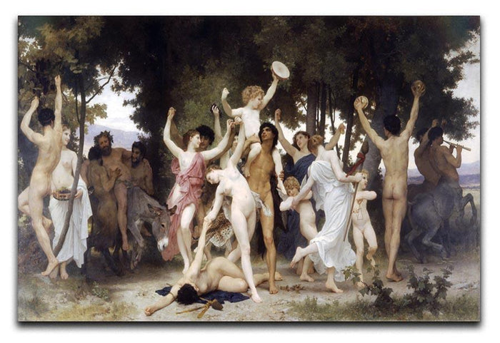 The Youth of Bacchus By Bouguereau Canvas Print or Poster