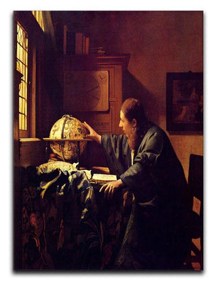 The astronomer by Vermeer Canvas Print or Poster - Canvas Art Rocks - 1