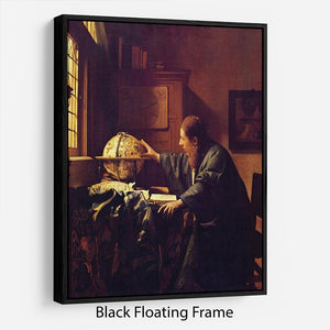 The astronomer by Vermeer Floating Frame Canvas - Canvas Art Rocks - 1