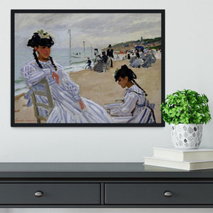 The beach at Trouville by Monet Framed Print - Canvas Art Rocks - 2