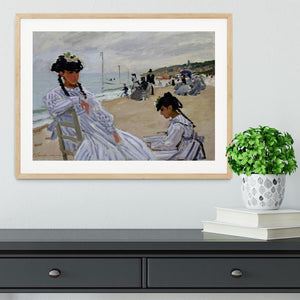 The beach at Trouville by Monet Framed Print - Canvas Art Rocks - 3