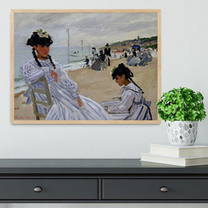 The beach at Trouville by Monet Framed Print - Canvas Art Rocks - 4