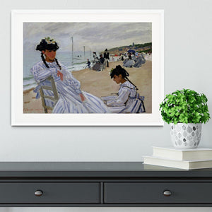 The beach at Trouville by Monet Framed Print - Canvas Art Rocks - 5
