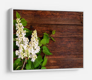 The beautiful lilac on a wooden background HD Metal Print