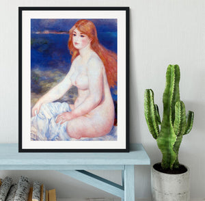 The blond bather 2 by Renoir Framed Print - Canvas Art Rocks - 1