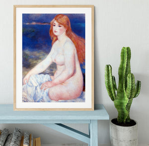 The blond bather 2 by Renoir Framed Print - Canvas Art Rocks - 3