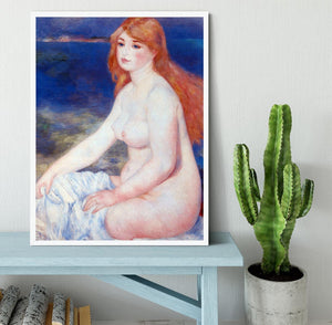 The blond bather 2 by Renoir Framed Print - Canvas Art Rocks -6