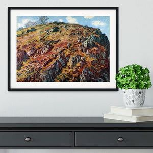 The boulder by Monet Framed Print - Canvas Art Rocks - 1