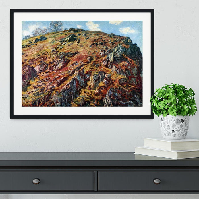 The boulder by Monet Framed Print