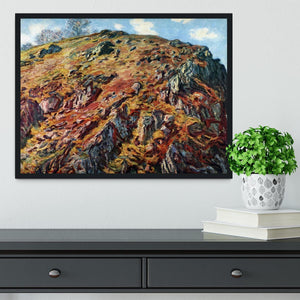 The boulder by Monet Framed Print - Canvas Art Rocks - 2
