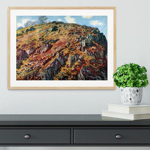 The boulder by Monet Framed Print - Canvas Art Rocks - 3