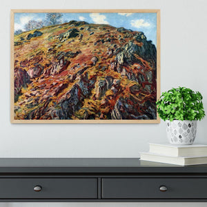The boulder by Monet Framed Print - Canvas Art Rocks - 4