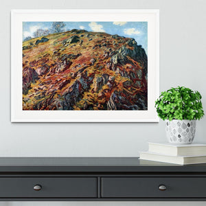 The boulder by Monet Framed Print - Canvas Art Rocks - 5