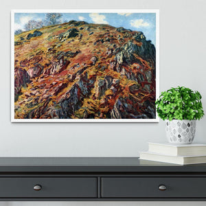 The boulder by Monet Framed Print - Canvas Art Rocks -6