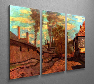 The brook of Robec by Monet Split Panel Canvas Print - Canvas Art Rocks - 4