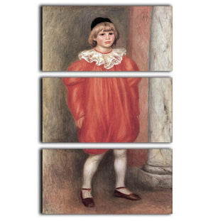 The clown by Renoir 3 Split Panel Canvas Print - Canvas Art Rocks - 1
